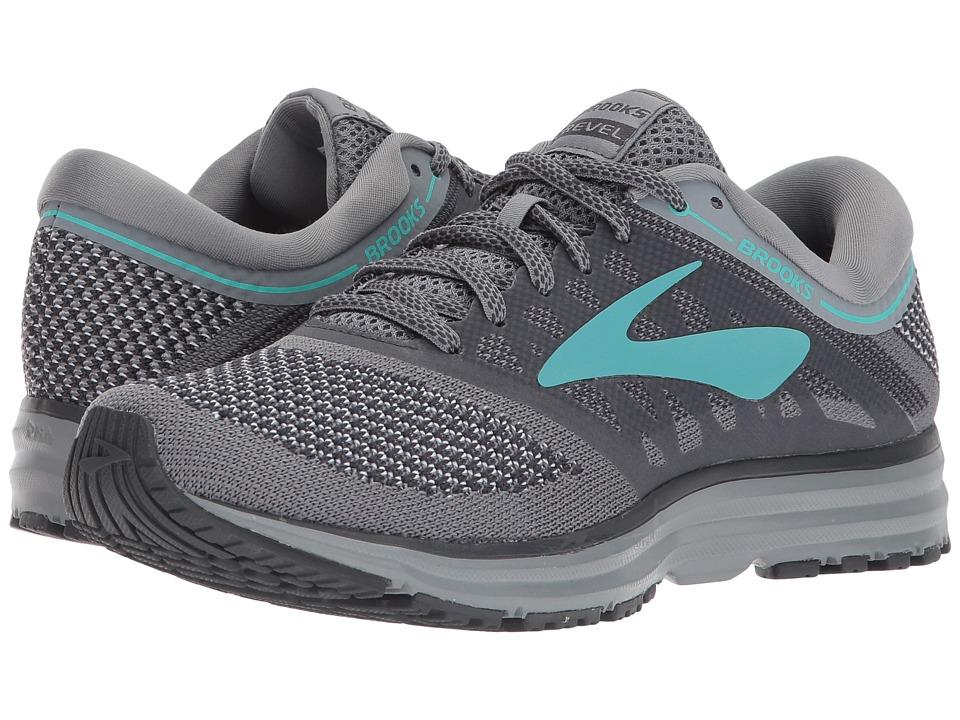 BROOKS Revel (Grey/Ebony/Teal Green) Women's Running Shoes
