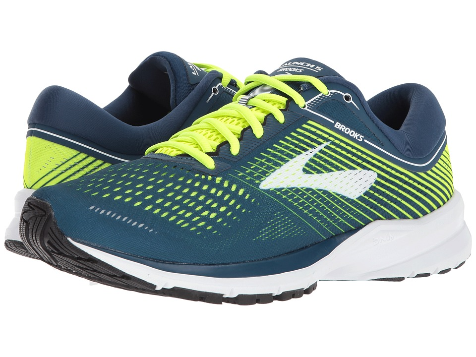Brooks - Launch 5 (Blue/Nightlife/White) Mens Running Shoes