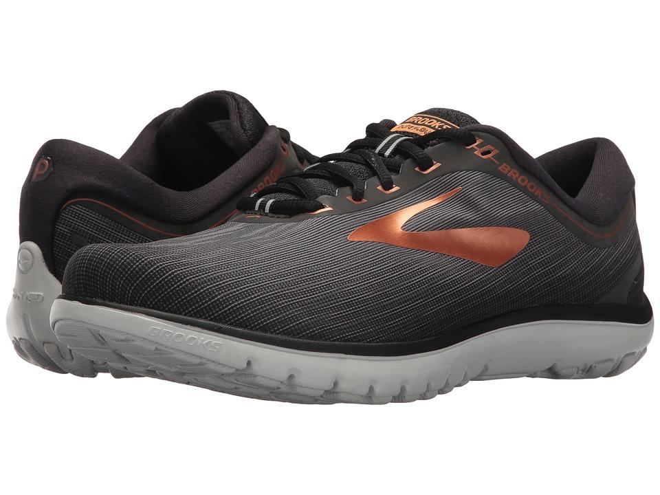 Brooks - PureFlow 7 (Grey/Black/Copper) Mens Running Shoes