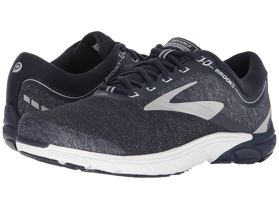 Brooks - PureCadence 7 (Peacoat/Silver/White) Mens Running Shoes