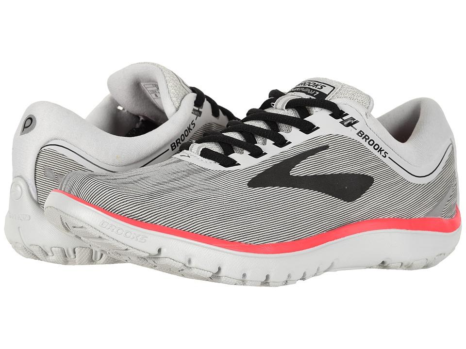 Brooks PureFlow 7 (Grey/Black/Pink) Women's Running Shoes