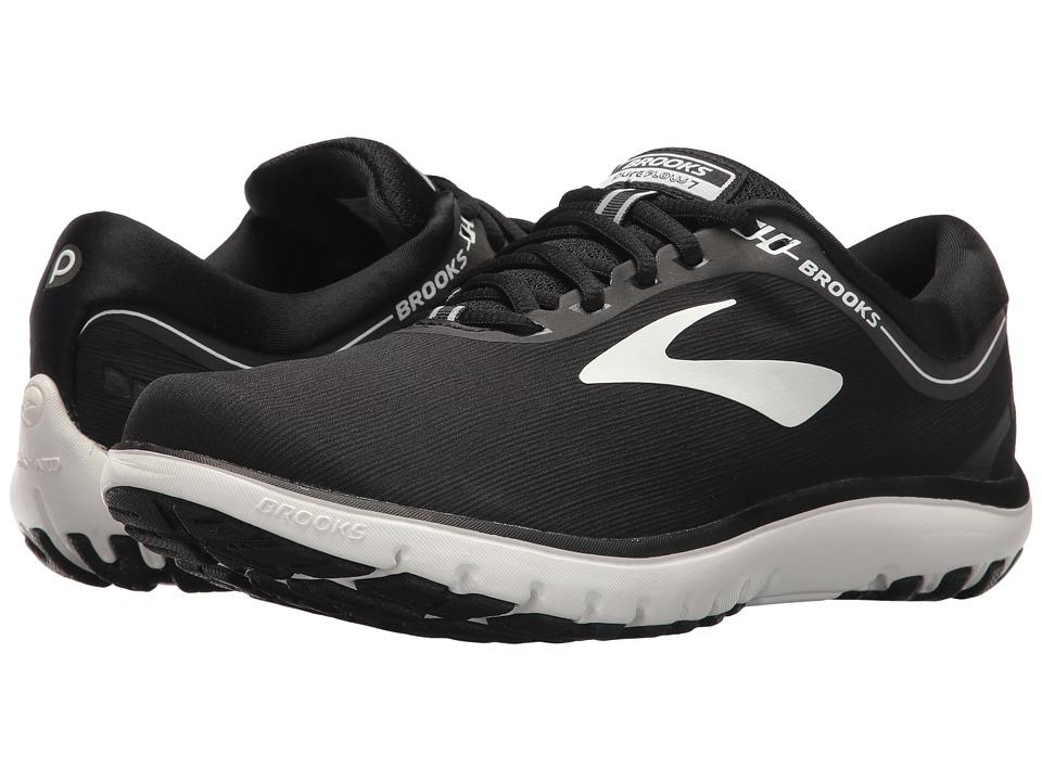 Brooks PureFlow 7 (Black/White) Women's Running Shoes