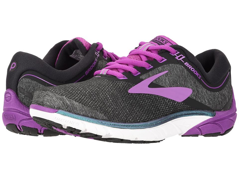 Brooks - PureCadence 7 (Black/Purple/Multi) Womens Running Shoes