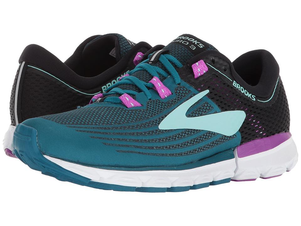 Brooks - Neuro 3 (Lagoon/Black/Purple) Womens Running Shoes