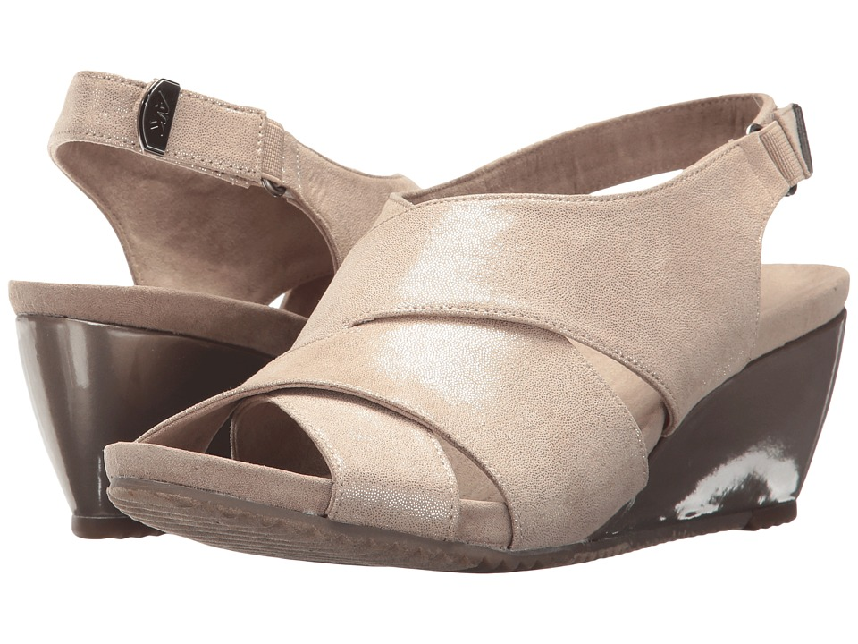 Anne Klein - Carolyn (Metallic Light Natural Fabric) Womens Shoes