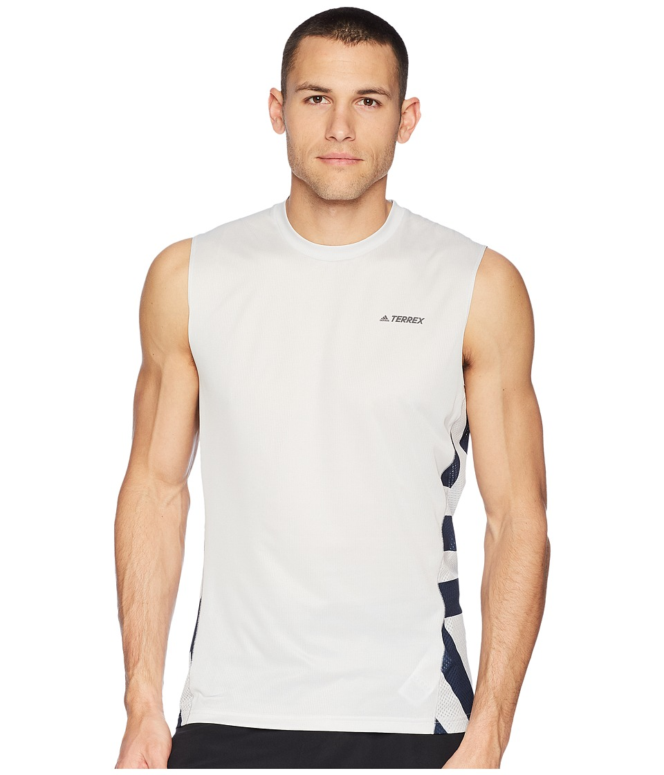 adidas Outdoor - Tracerocker Parley Top (Grey One) Mens Sleeveless