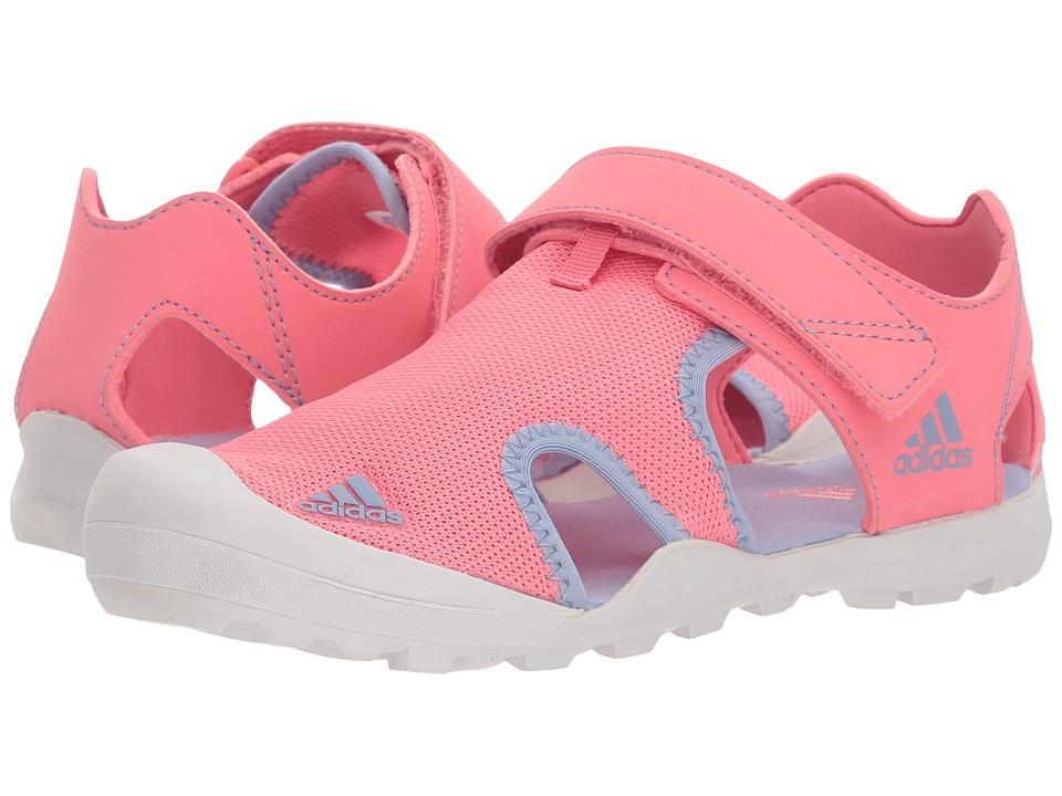 Image of adidas Outdoor Kids - Captain Toey (Toddler/Little Kid/Big Kid) (Chalk Pink/Chalk Blue/Grey One) Girls Shoes