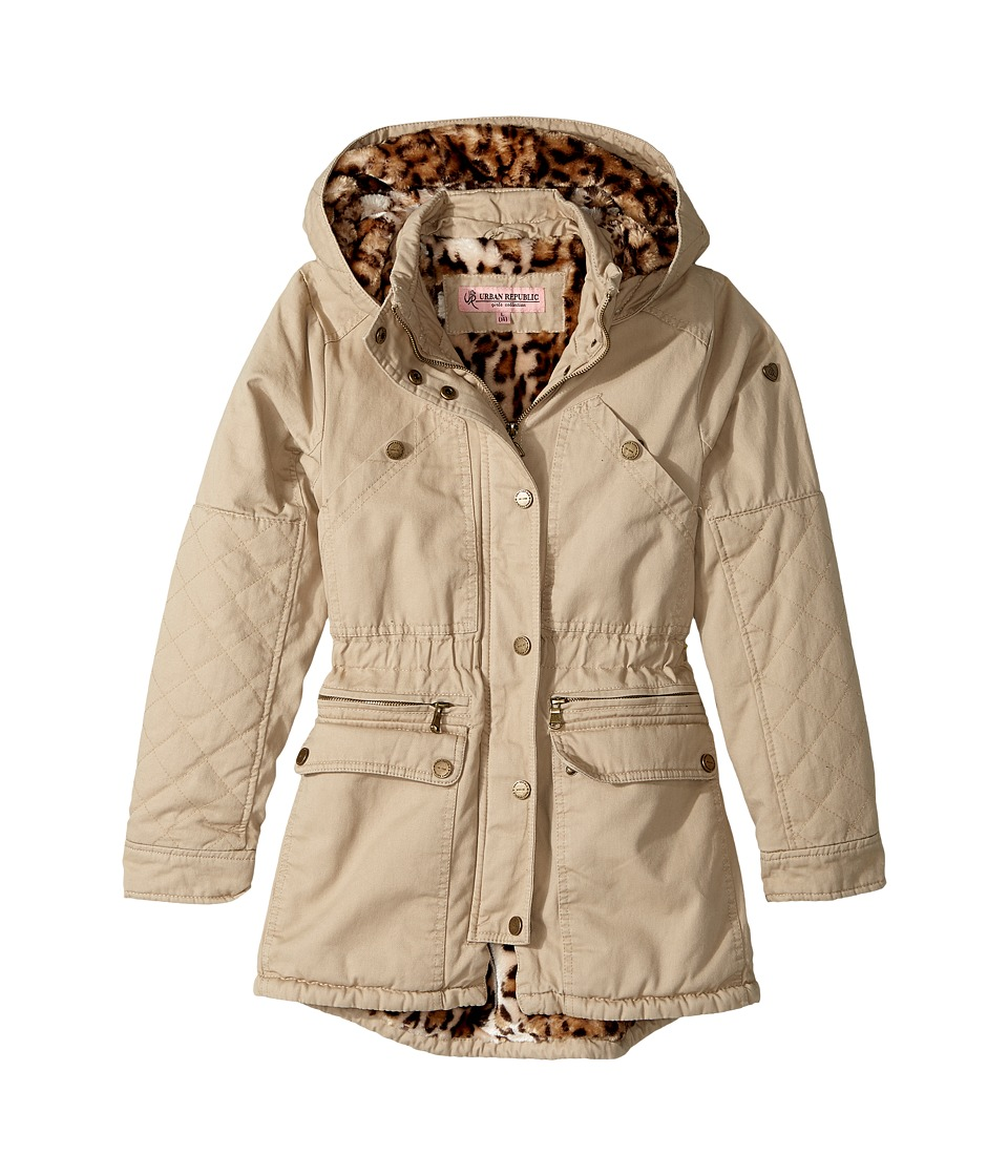 Urban Republic Kids - Cotton Twill Anorak with Faux Fur Lining