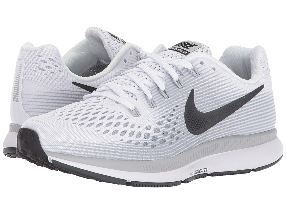 478af73e8a0 Nike Air Zoom Pegasus 34 (White-Anthracite-Pure Platinum-Wolf Grey) Womens  Running Shoes