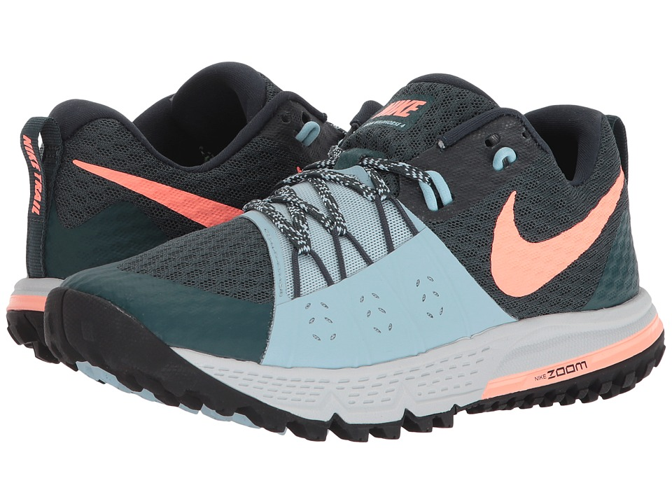 Nike Air Zoom Wildhorse 4 (Deep Jungle/Crimson Pulse/Ocean Bliss) Women's Running Shoes