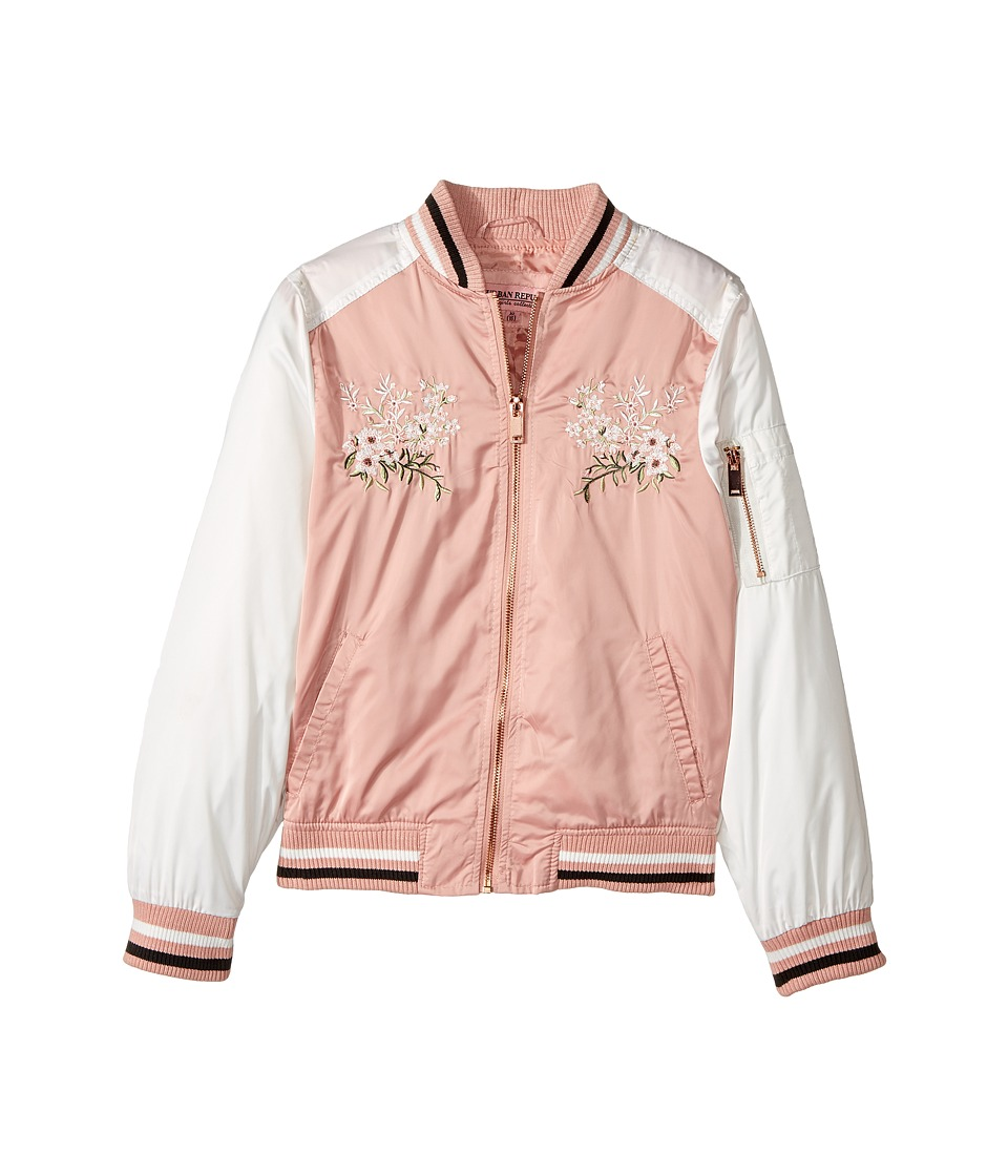 Urban Republic Kids - Satin Bomber with Chest Embroidery