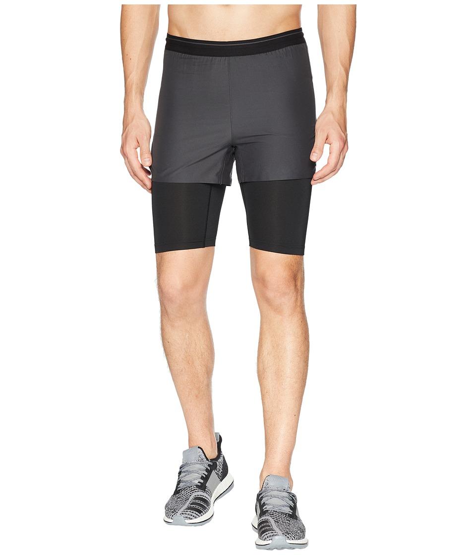 adidas Outdoor - Agravic 2-in-1 Parley Shorts (Black) Mens Shorts