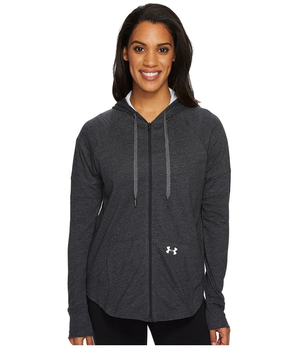 Under Armour - Sportstyle Full Zip Hoodie (Black/White/Tonal) Womens Sweatshirt