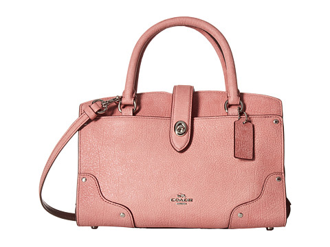 COACH Glitter Rose Mercer 24 Satchel - SV/Glitter Rose