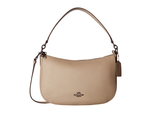 COACH Pebbled Leather Chelsea Crossbody - DK/Stone