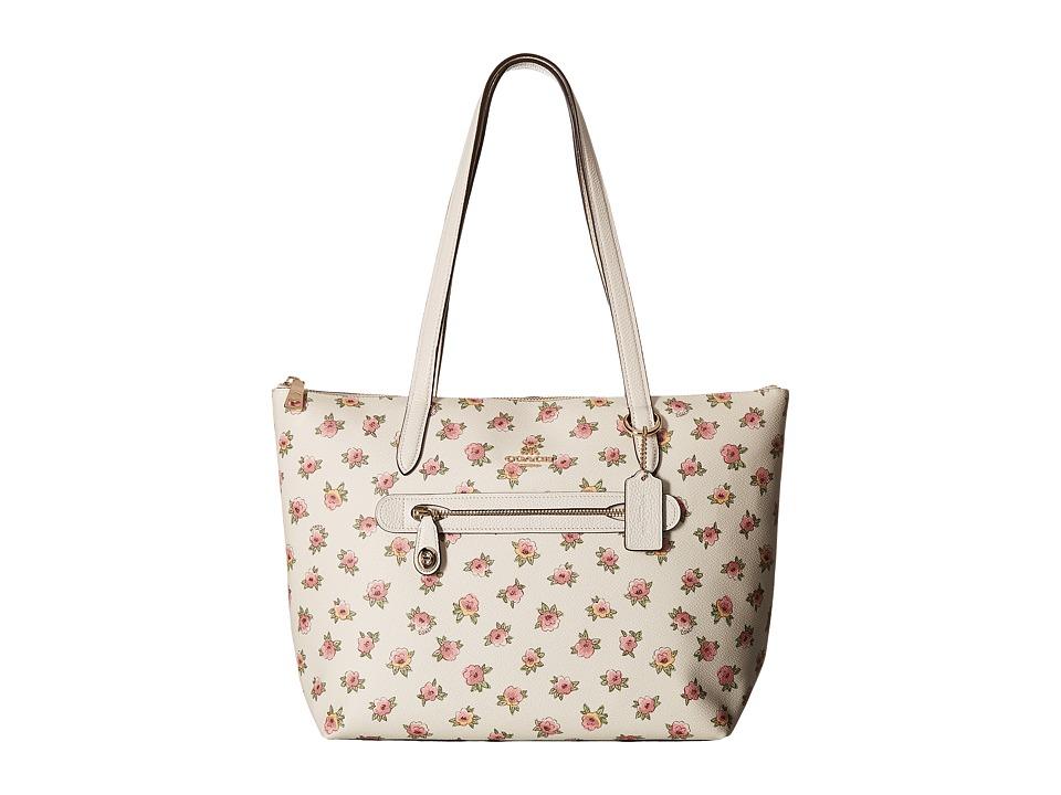 COACH - Flower Patchwork Pvc Taylor Tote (LI/Flower Patch) Handbags