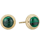 Shinola Detroit Coin Edge Earrings with Malachite