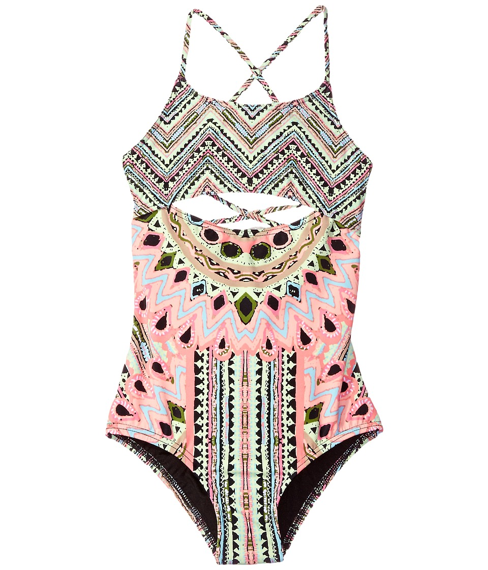 Hobie Kids - Festival of Brights Lace Back One-Piece