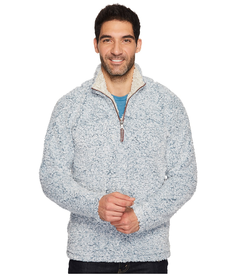 True Grit - Frosty Tipped Pile 1/4 Zip Pullover (Denim) Mens Long Sleeve Pullover