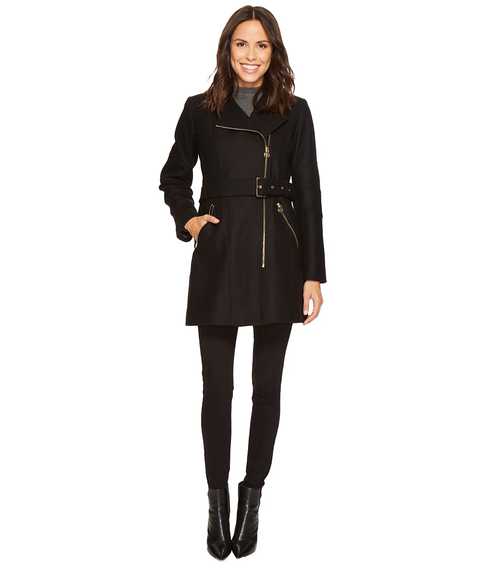Michael Kors Asymmetric Wool M121203C (Black) Women's Coat