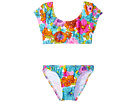 Hobie Kids - Fleur To Love Bow Crop Top and Hipster (Big Kids)