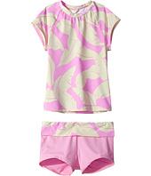 Hobie Kids - Fronds Forever Short Sleeve Rashguard and Swim Shorts (Big Kids)