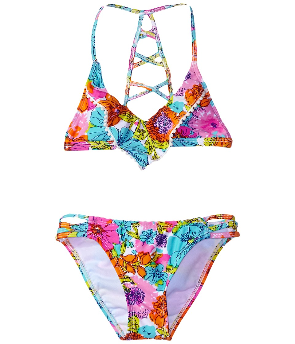 Hobie Kids - Fleur To Love Flounce Bralette and Strappy Hipster