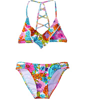 Hobie Kids - Fleur To Love Flounce Bralette and Strappy Hipster (Big Kids)