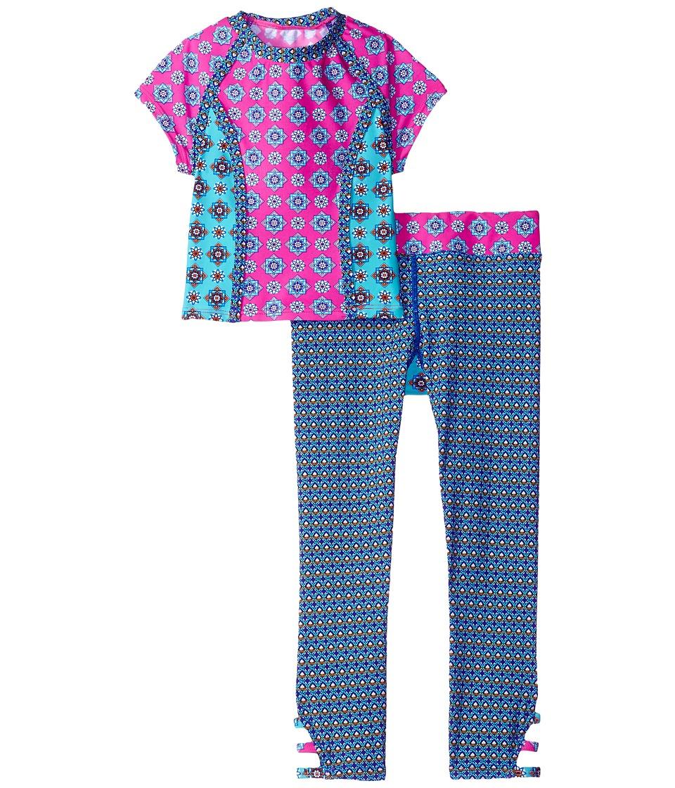 Hobie Kids - Mix It Up Cropped Rashguard and Swim Pants