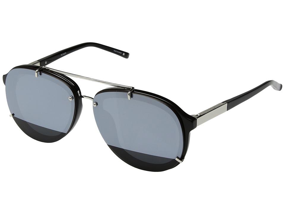 Image of 3.1 Phillip Lim - PL162C9SUN (Black/Silver/Silver Mirror) Fashion Sunglasses