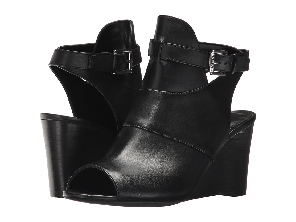 LAUREN Ralph Lauren Abelle (Black Signature Burn Calf) Women