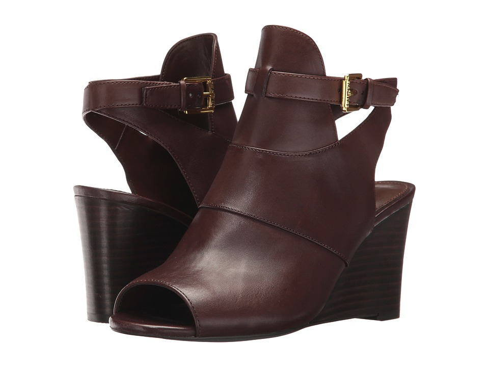 LAUREN Ralph Lauren Abelle (Burnished Brown Burnished Calf) Women