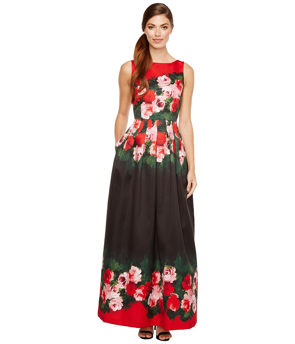 Tahari by ASL - Rose Printed Ballgown