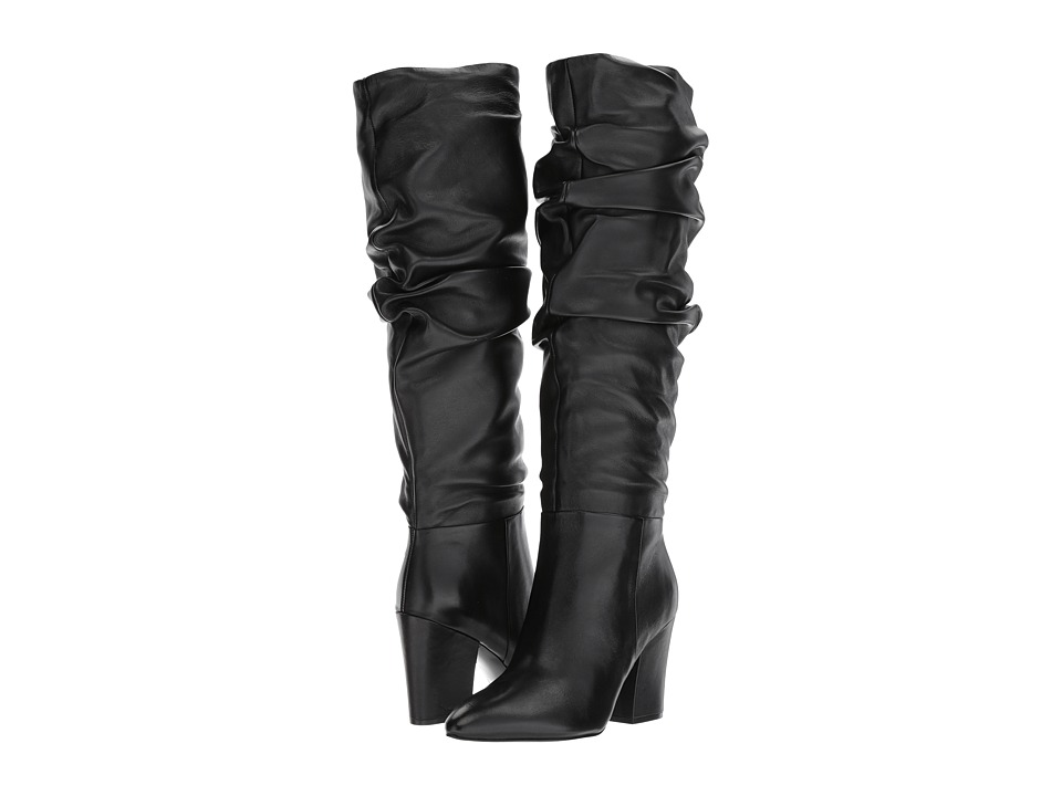 Nine West Scastien (Black Leather) Women