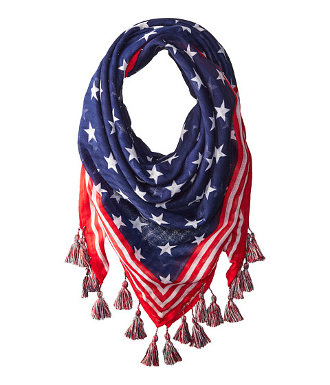 STEVE MADDEN Stars And Stripes Square Day Wrap in Blue