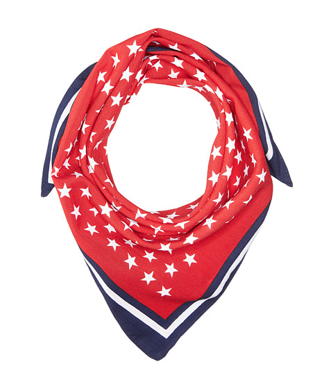 Steve Madden Stars and Stripes Square Neckerchief - Red