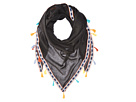 Steve Madden - Multicolor Tassels and Trim Triangle Day Wrap