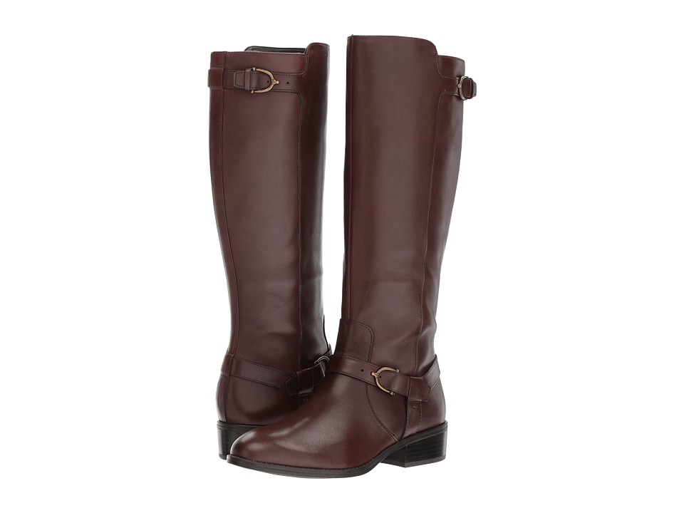 LAUREN Ralph Lauren Margarite (Dark Brown Burnished Calf) Women
