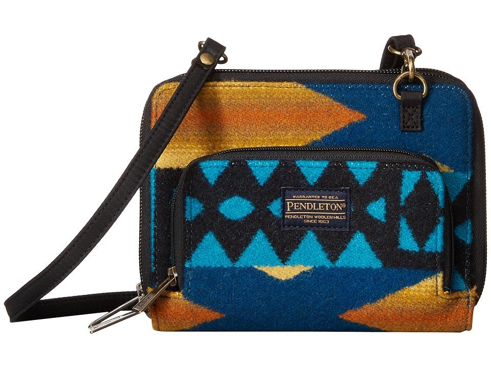 Pendleton - Wallet on a Strap (La Paz Turquoise) Wallet Handbags