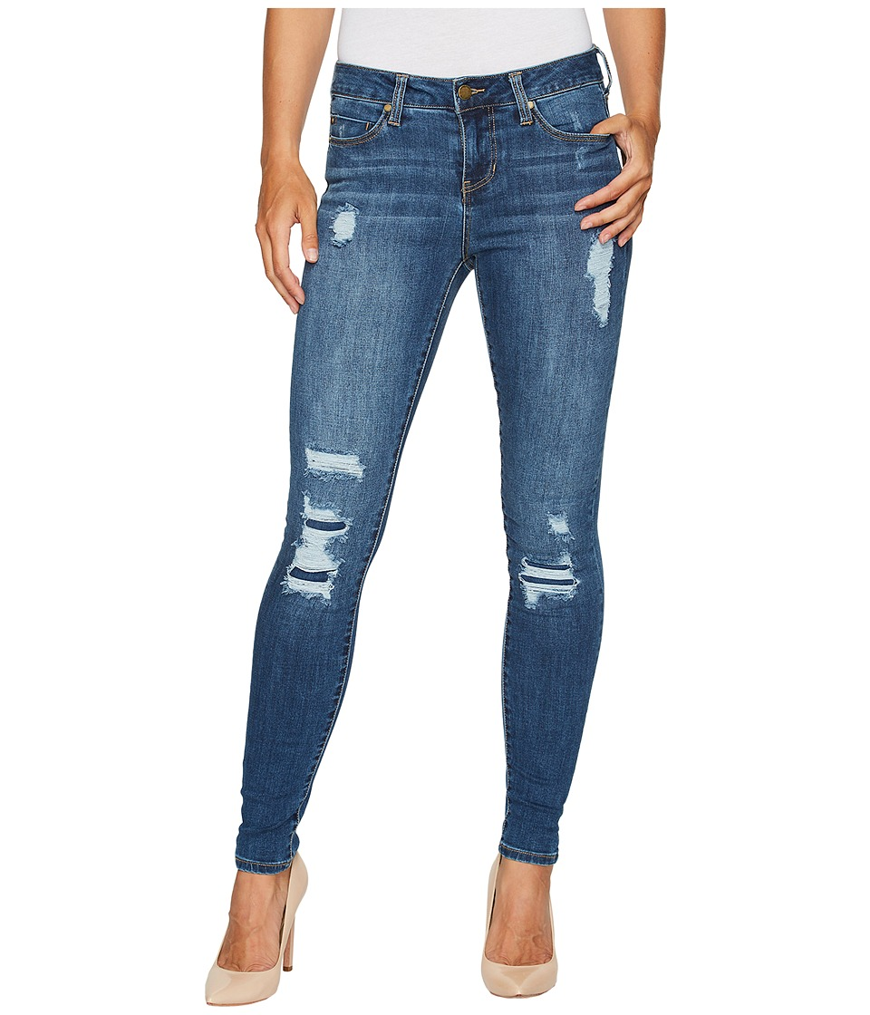 Liverpool - Abby Skinny with Destruct Detail in Vintage Super Comfort Stretch Denim in Smithtown Destruct