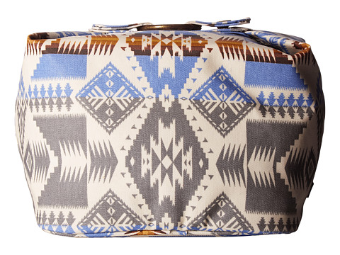 Pendleton Canopy Canvas Square Cosmetic Case - Silver Bark