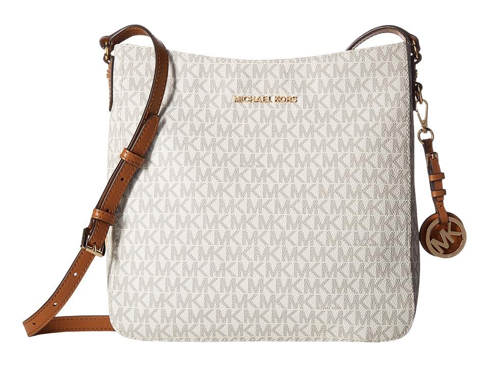 MICHAEL Michael Kors Jet Set Travel Large Messenger (Vanilla) Messenger Bags