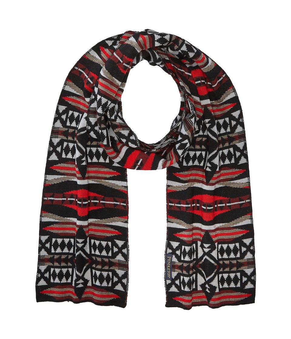 Pendleton - Knit Muffler (La Paz Scarlet) Scarves