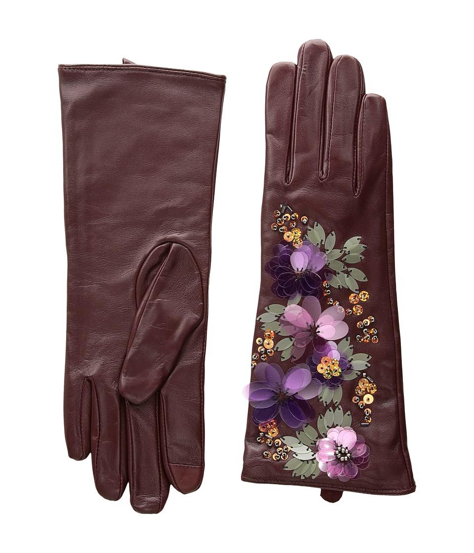 Echo Design Floral Cascade Gloves (Port) Dress Gloves