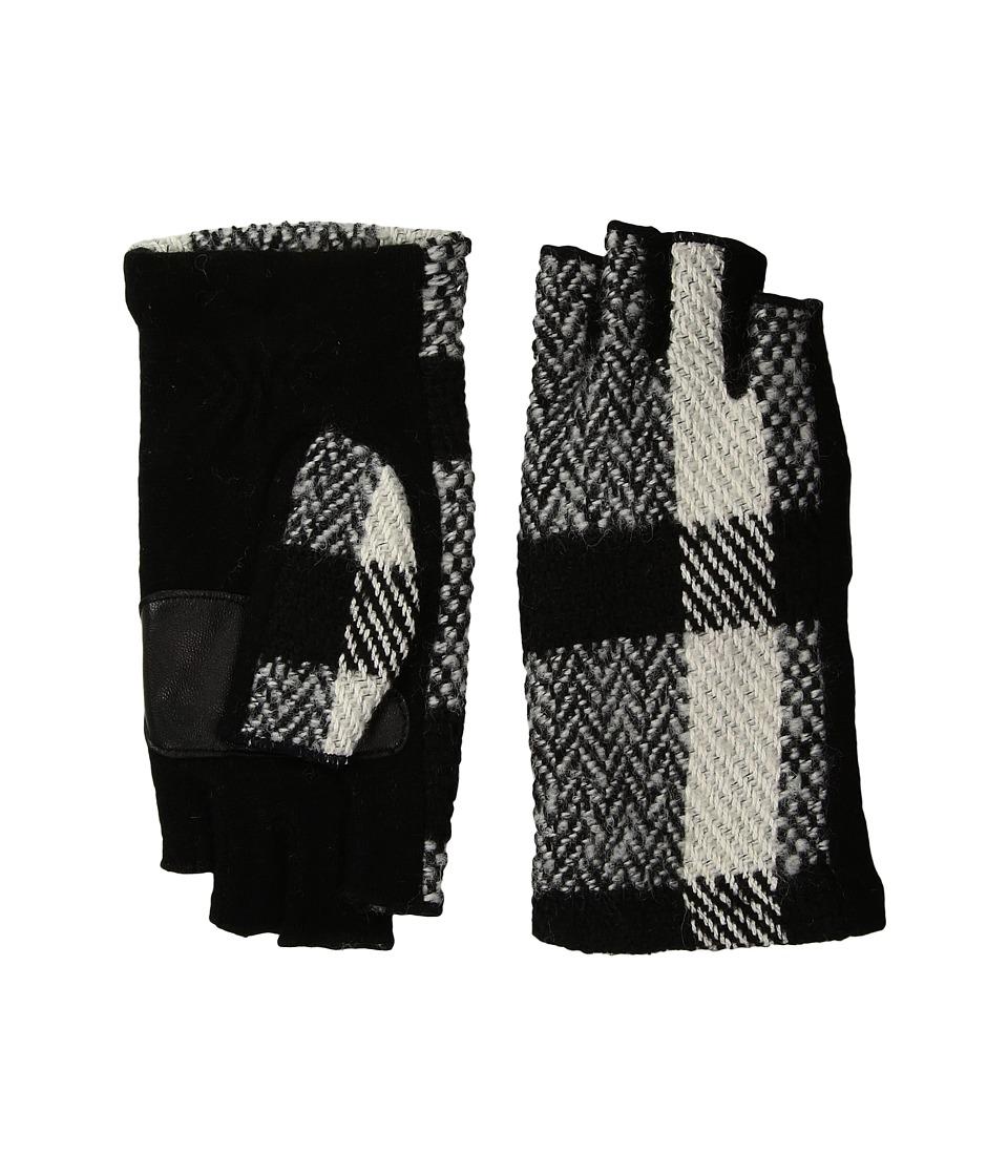 Echo Design Plaid Fingerless Gloves (Black) Dress Gloves