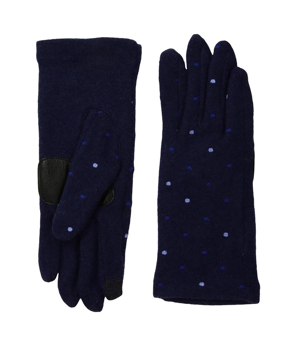 Echo Design Dot Dot Dot Gloves (Maritime Navy) Dress Gloves