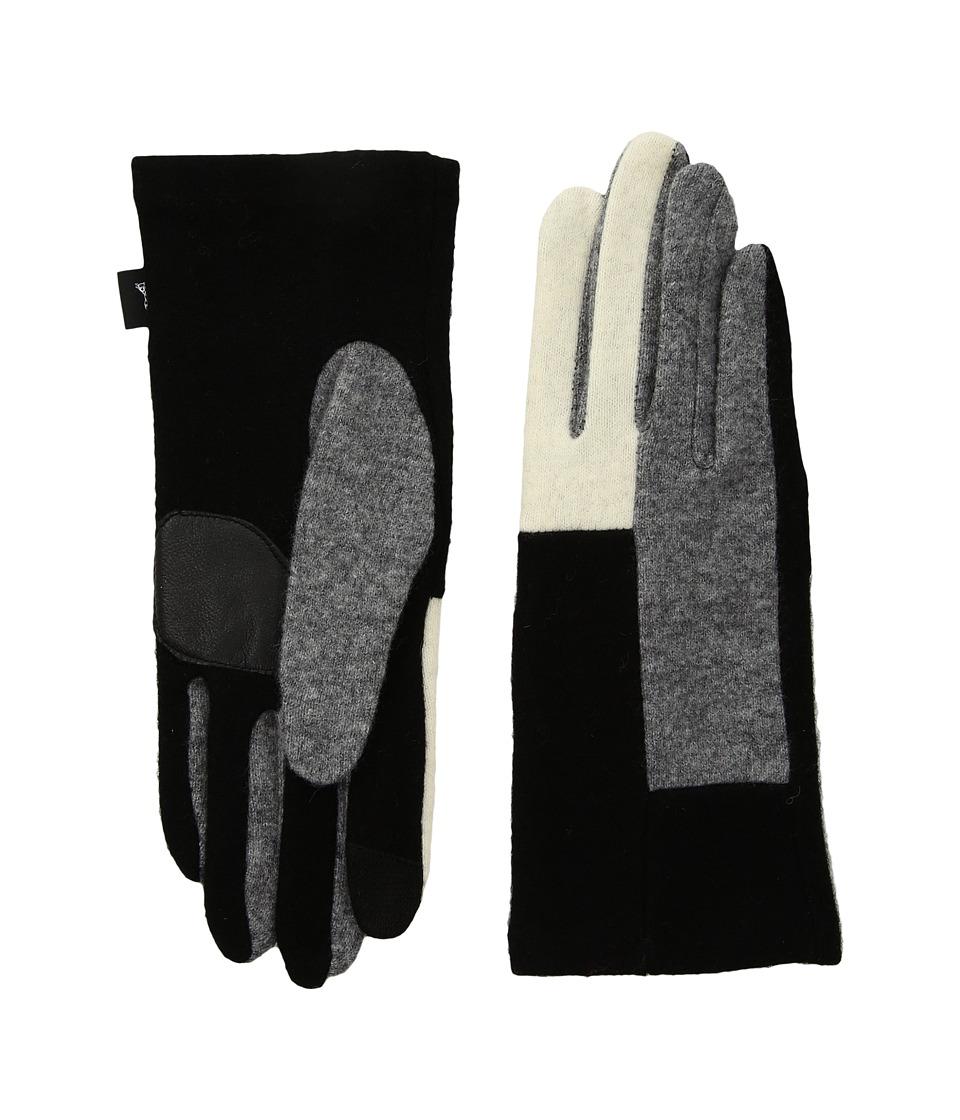 Echo Design Color Block Gloves (Black) Dress Gloves