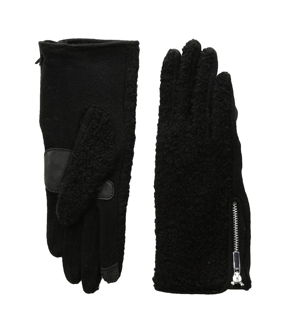 Echo Design Classic Boucle Gloves (Black) Dress Gloves