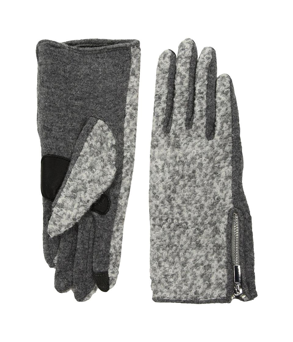 Echo Design Classic Boucle Gloves (Heather Grey) Dress Gloves