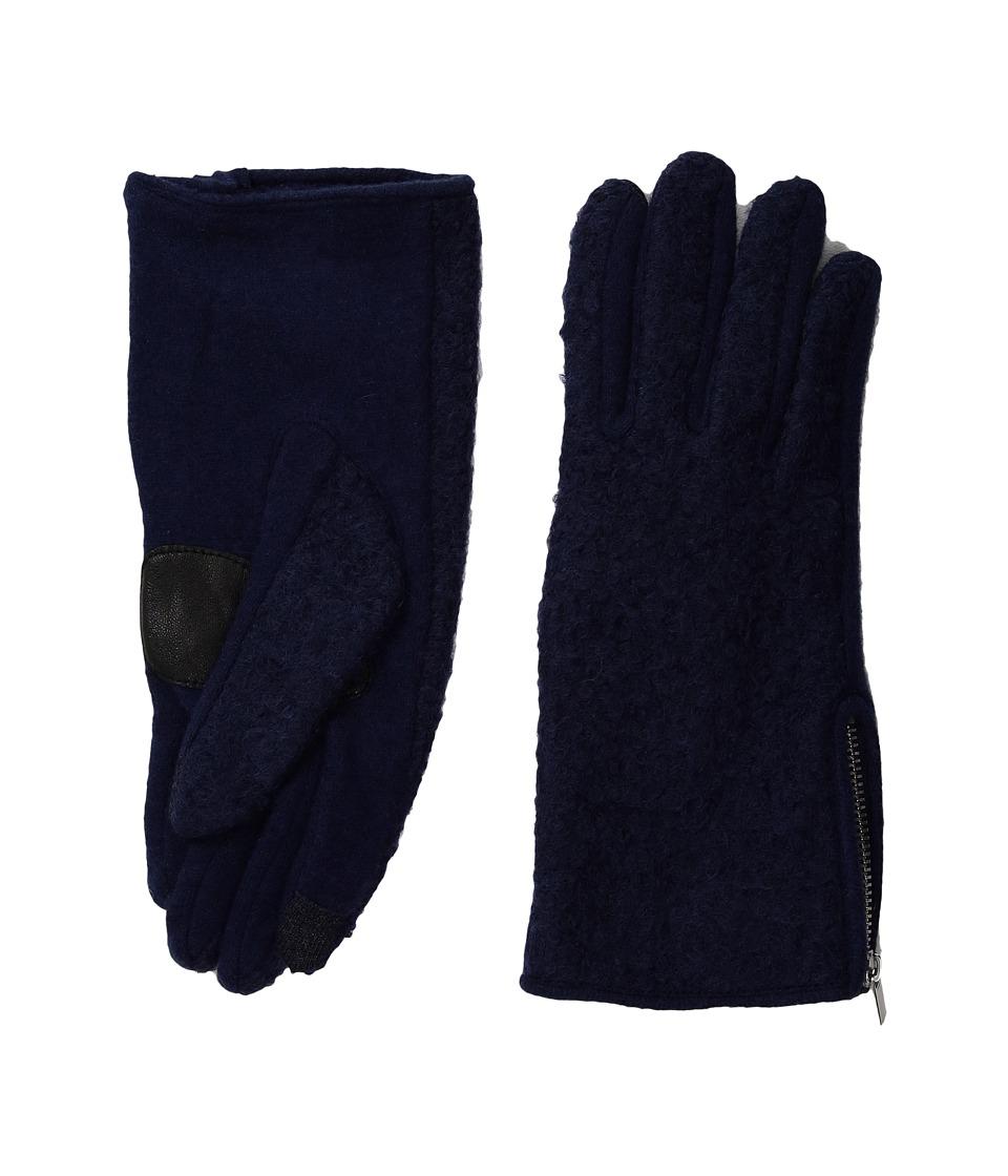 Echo Design Classic Boucle Gloves (Maritime Navy) Dress Gloves
